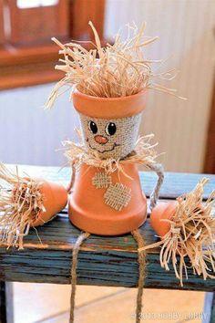 ******Flowerpot Scarecrow ******