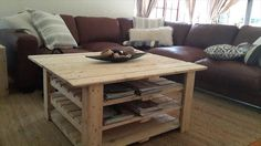 DIY Pallet Coffee #Table with Magazine Rack | 99 Pallets