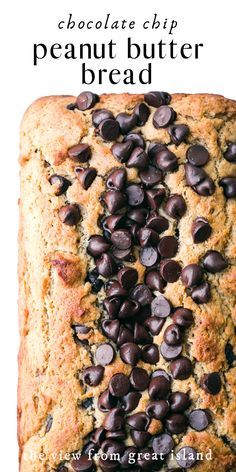 Feb 2020 - Peanut Butter Chocolate Chip Bread is the perfect quick bread.moist, peanutty, and loaded with chocolate chips! It makes an indulgent breakfast or snack. Peanut Butter Banana Bread, Peanut Butter Smoothie, Peanut Butter Desserts, Chocolate Chip Banana Bread, Peanut Butter Chips, Chocolate Chips, Peanut Butter Cake Roll Recipe, Butter Bread Recipe, Peanut Butter Breakfast