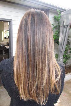 great mix of light for a medium brunette