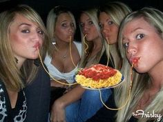 What If Everyone Who Does Duckface Is Actually Eating Invisible Spaghetti? - The Frisky