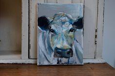Cow named 'Dexter' by JJHowardFineArt on Etsy