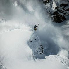 Captain Kais World: Skier pops a backflip while outrunning an Avalanche Snowboarding, Skiing, Avalanche, Sport Inspiration, Zermatt, Pop, World, Poster, Travel