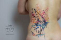 Segelschiff - Aquarell Tattoo