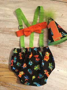 Little Monsters Boys Cake Smash Birthday Outfit by CuteAsClaire