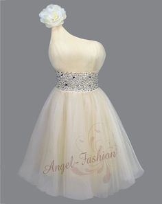 Gorgeous One Shoulder Short Homecoming Dress With Rhinestones, Short Prom Dress, Lovely Prom Dresses Bridesmaid Dresses Mini Prom Dresses, Sweet 16 Dresses, Beautiful Prom Dresses, Sweet Dress, Dance Dresses, Pretty Dresses, Sexy Dresses, Evening Dresses, Short Dresses