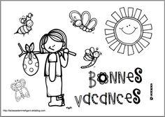 """Coloriage """"bonnes vacances"""" - La classe de Mme Figaro"""