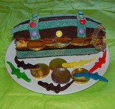 Gâteau d'anniversaire Coffre aux trésors : pour l'anniversaire d'un petit pirate ou d'une petite coquette !
