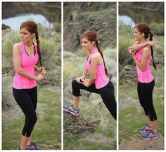 Love the twisted pony tail. The Freckled Fox : Outfits / Fashion Cute workout outfit! And she is adorable! Workout Inspiration, Fitness Inspiration, Freckled Fox, Dwelling On The Past, Cute Workout Outfits, School Tomorrow, Ways To Be Happier, Don T Wait, Tough Day