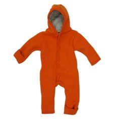 Disana Baby Walkover aus 100% kbT Merino-Schurwolle (50/56, orange)