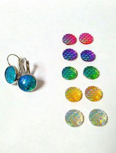 Mermaid earrings di Lorybitlittleshop su Etsy