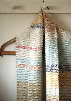 Knitting idea: knit in thread with your yarn. Also, I am in love with every pattern on this website-- purlbee.com