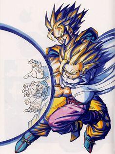 Goku and Gohan Father-Son Kamehameha