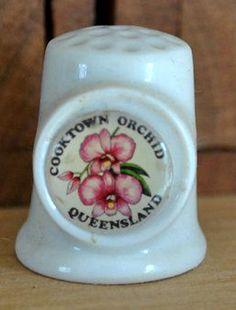 RP:  Vintage China Thimble - Cooktown, Queensland Australia - Orchid   Etsy.com