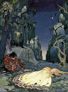 Virginia Frances Sterrett        illustration from        Old French Fairy Tales