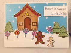Lawn Fawn Sweet Christmas Card - Weihnachtskarte mit Lebkuchenmann