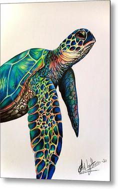 Sea Turtle Painting, Sea Turtle Art, Sea Turtle Drawings, Sea Turtles, Baby Turtles, How To Draw Turtle, Sea Turtle Tattoos, Art Drawings Sketches, Animal Drawings