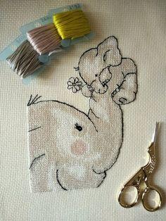 Cross Stitch Baby Blanket, Elephant Cross Stitch, Baby Cross Stitch Patterns, Cross Stitch Animals, Cross Stitch Kits, Cross Stitching, Embroidery, Etsy, Types Of Stitches