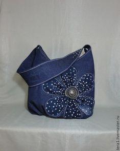 4372cf7d866d Купить или заказать Сумка джинсовая Полночный цветок в интернет магазине на  Ярмарке Мастеров. С доставкой