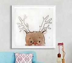 Baby Shower Gift, Custom Name, Deer watercolor painting,Woodland Animals, Nursery Decor, Nursery Art, New Baby Gift, First Anniversary.