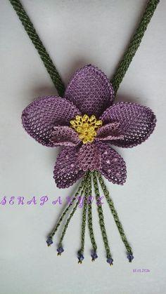 Needlework i # necklace needle lace Source by Boho Crochet, Crochet Shoes, Crochet Poncho, Free Crochet, Crochet Flower Patterns, Crochet Flowers, Crochet Shell Stitch, Single Crochet Stitch, Braidless Crochet