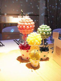 topiarios de caramelos - centro de mesa | Flickr: Intercambio de fotos