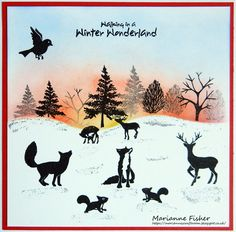 Marianne's Craftroom: More Christmas animals