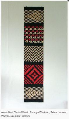 """Alexis Neal House of Treasures Series """"Tauira Whāriki Rāranga Whakairo""""  Printed Woven Whāriki 2013"""