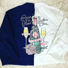 Raise a glass to southern class Shop these @laurenjames tees online now {link in bio} Also available in stores. #shopPD