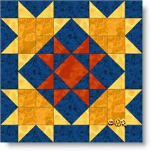 Star of Luxor quilt block pattern