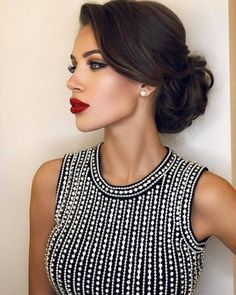 Terrific updo on black hair hair updos Simple Updos For Shoulder Length Hair That Look Amazing Elegant Hairstyles, Bride Hairstyles, Hairstyles Haircuts, Pretty Hairstyles, Hairstyle Photos, Hairstyle Ideas, Classy Hairstyles Medium, Hairstyles Pictures, Bridesmaid Updo Hairstyles