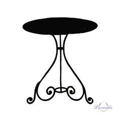 Okrúhly kovový stolík TOSCANA RONDO