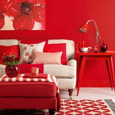 Red Living Room Interior Design Ideas 28.  Every room needs a touch of red.  This living room and the previous one have quite more than a touch...❤️