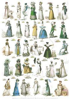 Fashion Plates published 1806 - 1820