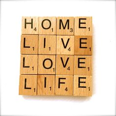 A perfect gift for loved ones, these scrabble coasters can be customised with any words/phrases you like Scrabble Letter Crafts, Scrabble Coasters, Scrabble Art, Scrabble Letters, Diy Coasters, Scrabble Tiles, Dyi Crafts, Recycled Crafts, Crafts To Sell