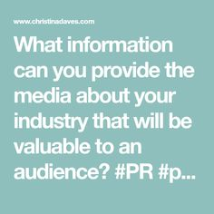 What information can you provide the media about your industry that will be valuable to an audience? Skype Interview, 10 Day Challenge, Money Safe, The Good Old Days, Public Relations, Real Estate Marketing, Stress Relief, Stock Market, Digital Marketing