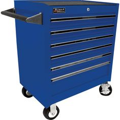 Homak 27in. 6-Drawer Rolling Tool Cabinet — Blue, 26 3/4in.W x 18in.D x 31 1/2in.H, Model# BL04062601 | Tool Chests| Northern Tool + Equipment