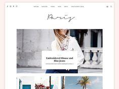 Wordpress Fashion Blog Theme - Paris by MunichParis Studio  on @creativemarket