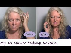 10 Minute Makeup, Face, Lips, Hooded Eyes, Women, Mature over 50 - YouTube