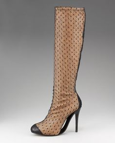 Fish net Boots.  First I've ever seen of these!  HOT!