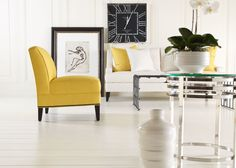 Mason chair offers a stylish seating solution, being armless and roomy while visually stunning.
