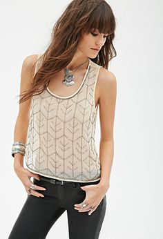 Beaded Chiffon Top | Forever 21 - 2000056469