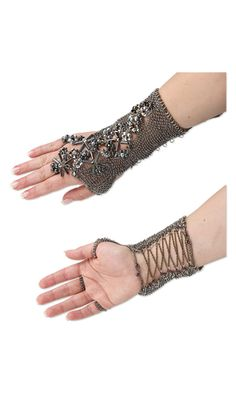Cufflet with Czech Fire-Polished Glass Beads, Hemalyke™ Beads and Chain Mail    Hey, Christy...