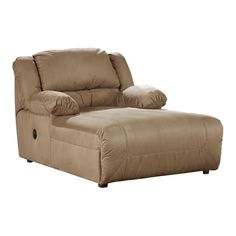 Jackpot reclining chaise in sage microfiber fabric by for Catnapper jackpot reclining chaise 3989