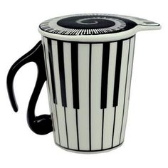 Music Coffee Mug /Melody Tea Cup Gift (Piano Keyboard /Musical Notes) - Features: - A beautiful piano keyboard mug! Love at first sight! - Made of high-quality porcelain. - Enjoy your favorite drink i
