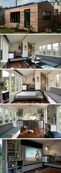 The Minim tiny house: a 210 sq ft home with off-grid capabilities and a bright, modern design.: