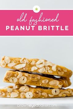 Low Unwanted Fat Cooking For Weightloss Peanut Brittle - This Is A Classic, Old-Fashioned Peanut Brittle Recipe That Is Both Quick And Easy - No Candy Thermometer Required. Incredible For Christmas Gifts Easy Candy Recipes, Best Dessert Recipes, Fun Desserts, Brittle Recipes, Biscuits, Homemade Candies, Kid Friendly Meals, Christmas Treats, Sweet Tooth