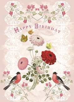 """""""Happy Birthday. With lost of Love."""" Calypso Cards and Gift Products. #birthdaycard"""