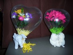 Mother's Day Flowers in a Balloon with stuffed animals.