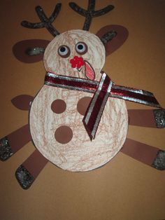 Turkey in disguise project. We made a reindeer.